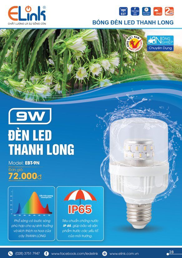 Den Led Thanh Long 9w Elink
