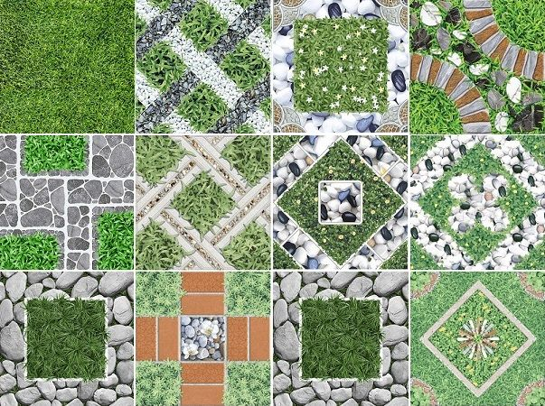 map gạch lát sân vườn